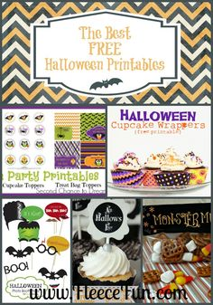 The Best FREE Halloween Printables.  These printables will add drama and fun to your Halloween gatherings! The best part about these printables is the price – FREE!