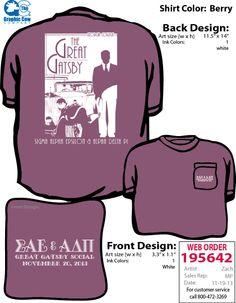 Great Gatsby themed social t-shirt.
