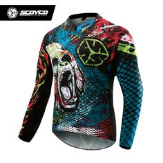 54.53$  Buy now - http://ali8xt.shopchina.info/go.php?t=32687394264 - SCOYCO Professional Motorcycle Dirt Bike MTB DH MX Long Sleeve T-Shirt Tops Breathable Motocross Off-Road Racing Jersey Clothing  #bestbuy