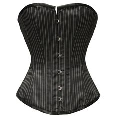 MY-154 - Brand New - Pinstripe Overbust Corset