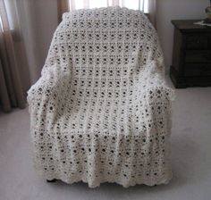 Vintage Lace Crochet Afghan