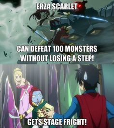 thats the same thing with natsu, was raised by a dragon and can defeat anyone or thing that gets in his way, and he gets really bad motion sickness