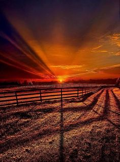 Sunset in the country.....gorgeous!!
