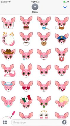 Chihuahuas have more color combos than any other puppy dog. Are you a Chihuahua lover? Pink Valentine's Chihuahua Emoji Stickers for iMessage lets you enjoy 50 adorably cute emojis of the smallest breed of dog on earth. Express yourself with the mythical Pink Valentine's Day Chihuahua we promise it will brighten your day. The perfect accessory for chihuahua owners and lovers.