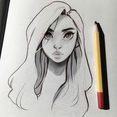 Laura Brouwers - I hope you're all doing well! I hope you like this evening sketch~ ✨ Cartoon Girl Drawing, Cartoon Sketches, Girl Cartoon, Art Sketches, Character Design Cartoon, Character Drawing, Beautiful Drawings, Cool Drawings, Lilo And Stich