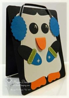video tutorial, Punch Art, Penguin, Stampin' Up!, Easy Card to Make