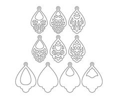 This ornamental pendant templates was created using my original hand drawn designs. You can resize template size as you wish in your cutting software without loosing detail. ----YOU WILL RECEIVE---- 1 ZIP file- 9 file formats ♥ EPS, SVG, CDR, DXF, DWG, AI (vector formats) ♥ PNG