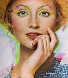 'Yardley Sigh Shadow' rainbow eyeshadow - 1972 advertisement.