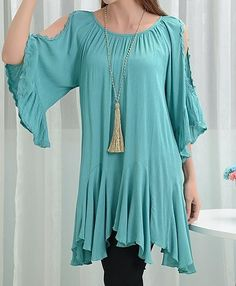 be0823456f0 Destiny Muse Dress in Turquoise Charm Off-Shoulder Sleeve Comfy Breeze - 2x