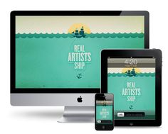'Real Artists Ship' is a quote by Steve Jobs that Andrew Power turned into a wallpaper design.