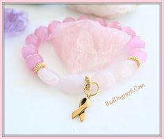 Rose Quartz Awareness Mala Bracelet FREE SHIPPING