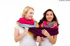 Farbiger Spaß mit Loops aus Biobaumwolle von Sekai Colori mehr davon auf www.sekai-colori.de