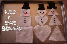 Shape Snowman - preschool winter activity