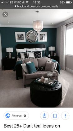 Dark Grey and Teal Bedroom … | Around the House in 2018… Teal And Grey Bedroom on burnt orange and grey bedroom, grey and cranberry bedroom, purple and grey bedroom, grey and aqua decor, grey girls' bedroom, grey and hunter bedroom, white and grey bedroom, grey kitchen decor blackboard, grey and light green bedroom, grey and color bedroom, grey and bronze bedroom, grey yellow teal fabric, grey and coral bedroom, black and grey bedroom, grey and blue bedroom, grey and lavender bedrooms, grey and turquoise bedroom, charcoal grey blue bedroom, grey and tan bedroom, grey room with teal accents,