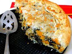 3 Kale Recipes: Kale/Butternut/Caramelized Onion Phyllo Pie; Soup; Pizza