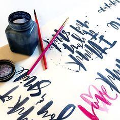Handlettering process by Courtney Shelton #handlettering #typography #brushlettering