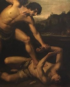 Cain and Abel by Guiseppe Vermiglio #cainandabel #guiseppevermiglio #fineartsmuseum #malta