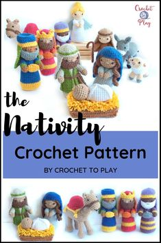 This Nativity crochet pattern includes instructions to crochet all of the beloved figures needed to Crochet Amigurumi, Amigurumi Patterns, Amigurumi Doll, Crochet Dolls, Crochet Baby, Christmas Crochet Patterns, Holiday Crochet, Crochet Crafts, Crochet Projects
