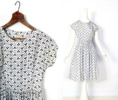 Vintage 1950s Dress / IN THE CLOVER / 50s by SmallEarthVintage, $76.00