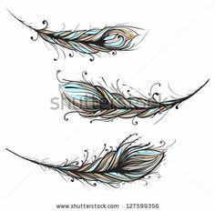 Intricate Decorative Feathers Illustration. Ornate Feathers Illustration EPS8. by Popmarleo, via Shutterstock
