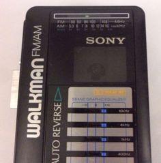 RARE VINTAGE Sony Walkman Portable Radio Cassette Player Model WM-AF56 by RetroVintageByJim on Etsy
