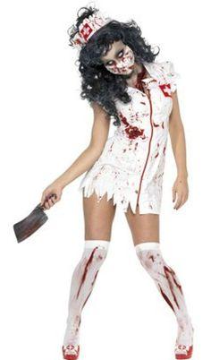 Zombie Nurse Costume, Comes with Dress, Mask and Hat. #FancyDress #Costume #Zombie #Halloween #Blood #BloodSplattered #Nurse #ZombieNurse