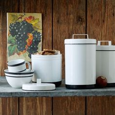 White Enamel Canisters | west elm