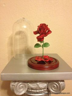 Belle Beauty and the Beast Magical Wilting Rose Prop by Bbeauty79, $99.95