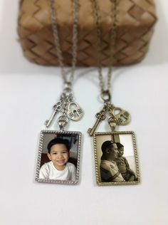 Custom Photo Necklace, Personalized keepsake, Photo jewelry, Personalized necklace. $13.00, via Etsy.