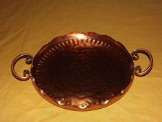 vintage gregorian hammered 2 handle copper tray
