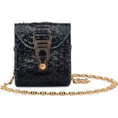 La Perla Christmas Gifts Blue Glitter Python Micro Bag ($890) ❤ liked on Polyvore featuring bags, handbags, intimates, mini crossbody handbags, christmas purse, crossbody handbags, mini cross body bags and mini crossbody purse