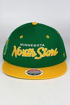 Zephyr Headliner 2 Tone Minnesota North Stars Snapback Hat Kelly Green -  Yellow - White 752f2e1cbc9d
