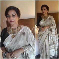 Yay or Nay : Vidya Balan's traditional look in a Assam Silk Saree | PINKVILLA