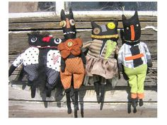 halloween and vine My sister Christy Silacci make these one of a kind dolls, using all recycled materials.