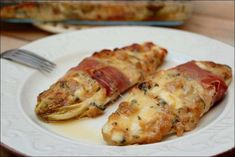 Endives Stuffed in the Italian ~ Happy Taste - Recipes Easy & Healthy Ham Dishes, One Pot Dishes, Easy Healthy Recipes, Easy Meals, Cuisine Diverse, Food Tasting, Meat Chickens, Gluten Free Cooking, Food Crafts