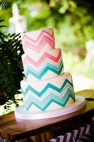 Chevron cake for Caitlin- design and color idea