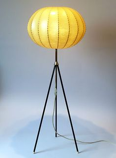 Vintage 1960s COCOON Tripod FLOOR LAMP Flos Danish Modern Mid Century Atomic Era