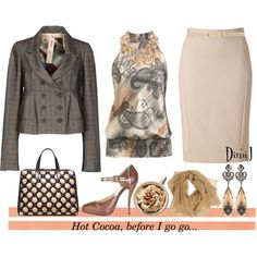 Hot Cocoa before I GO GO..., created by dimij on Polyvore