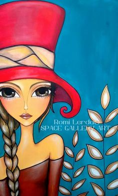 Romi Lerda For more great pins go to Art And Illustration, Watercolor Illustration, Watercolor Art, Art Pop, African Art Paintings, Happy Paintings, Arte Popular, Whimsical Art, Fabric Painting