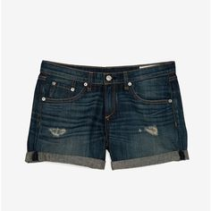rag & bone/JEAN Sheffield Boyfriend Shorts ($180) ❤ liked on Polyvore