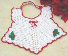 Maggie's Crochet · Christmas Bib Crochet Pattern