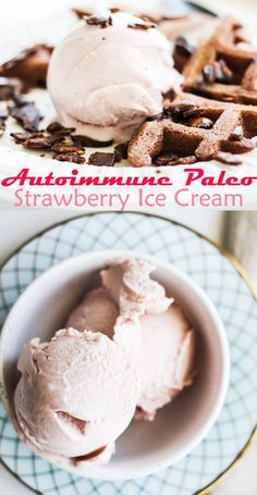 strawberry ice cream - AIP, paleo, gluten free, nut free, egg free, dairy free, vegan [low allergen and anti-inflammatory recipes]