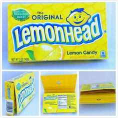 Handmade Upcycled Lemonhead Candy Box - Wallet Inspiration: From my love of candy and upcycling unique items and seeing what I can make.  Description: Small purse with metal snap closure and strap for wrist  You?ll love it because: It?s small, handmade, waterproof, one of a kind  Perfect for:  -A gift for a Lemonhead lover   -Your necessities; phone, ID, debit cards/cash  -I like to keep small purses like this inside of my big ?work bag? for the moments when I don?t want to lug my whole…