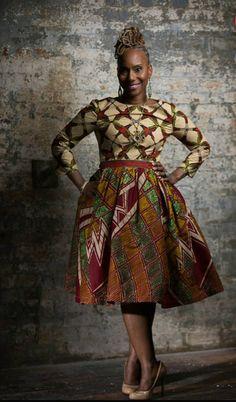 S T E L L A Remix5 Unique Dutch African Print by LiLiCreations