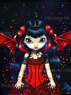 Fairy in a Red Dress fairy  Jasmine Becket-Griffith
