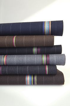 Bespoke by Paul Smith for Maharam.  Who doesn't appreciate haberdashy?