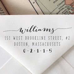 Custom Calligraphy Stamp: Wedding Stationary Wood Stamp, Engraved, Address, Stationary on Etsy, $20.95