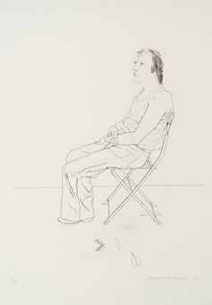 David Hockney, 'Mo with Five Leaves' Etching and aquatint, 1971.