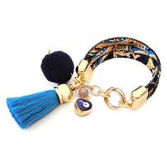 Fabric Bracelets, Fabric Jewelry, Boho Jewelry, Jewelery, Beaded Bracelets, Thread Jewellery, Chokers, Bangles, Earrings