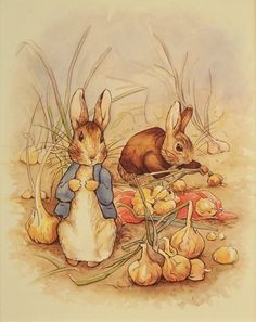 "Art 4 Kids ""Peter Rabbit and Onions"" Mounted Art Print, 08""x10"" by Creative Images, http://www.amazon.com/dp/B001H9NUT6/ref=cm_sw_r_pi_dp_.7f8rb0G6JJJC"
